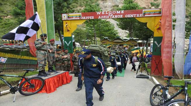 Tri Services Adventure Expedition was flagged off from Sapper