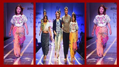 Photo of India Fashion Week 2017: Anshu Jamsenpa walked the ramp as show stopper