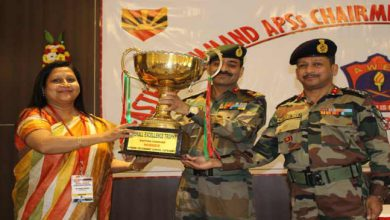 Photo of Army Public School Tezpur awarded  Overall Excellence Trophy