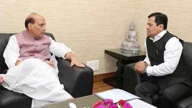 Photo of Assam CM Sarbananda Sonowal meets with Rajnath Singh