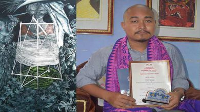 Photo of Kokrajhar Artist selected for All India Gold Medal Award for Print Making