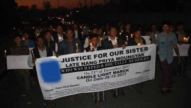 Photo of Arunachal: Candle light procession against Minor rape and murder in Namsai