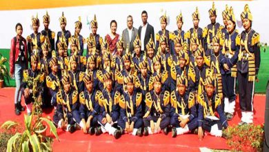 Photo of R-Day:  First ever Brass Band Team of Bodo Students from Assam to participate