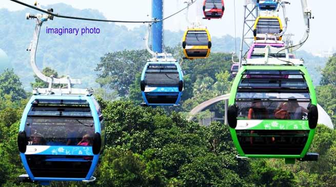 Mizoram planing to construct Asia's longest Ropeway cable car