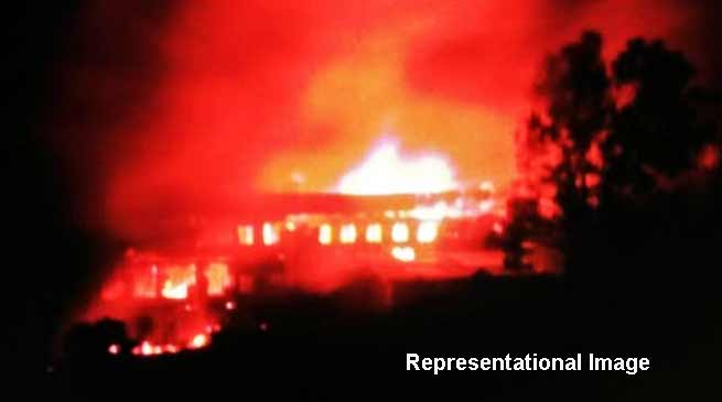 Nagaland Poll Violence : Candidate house torched
