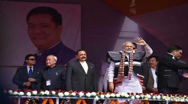 PM Modi inaugurate Several Projects in Arunachal Pradesh