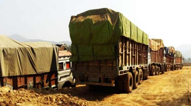 Manipur: Assam Rifle seize 12 trucks loaded with illegal timber