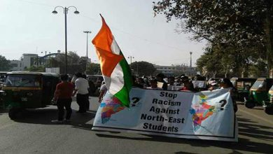 Photo of Northeast Student's protest March at Vadodara