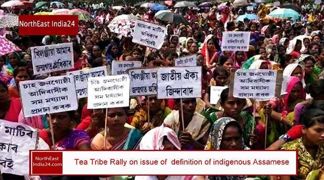 Assam:Tea Tribes Adibasis Rally on issue of indigenous Assamese