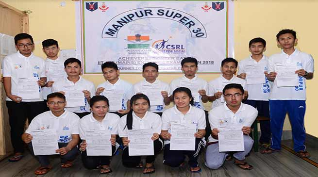 Manipur: Army's 'project 30'  provides free coaching for IIT/JEE main exam