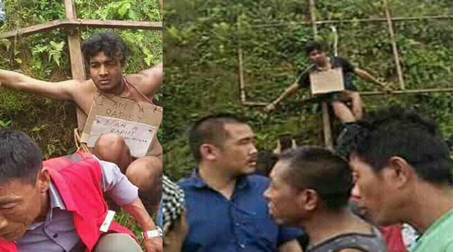 Nagaland: Alleged rapist beaten up, paraded naked in Mon town