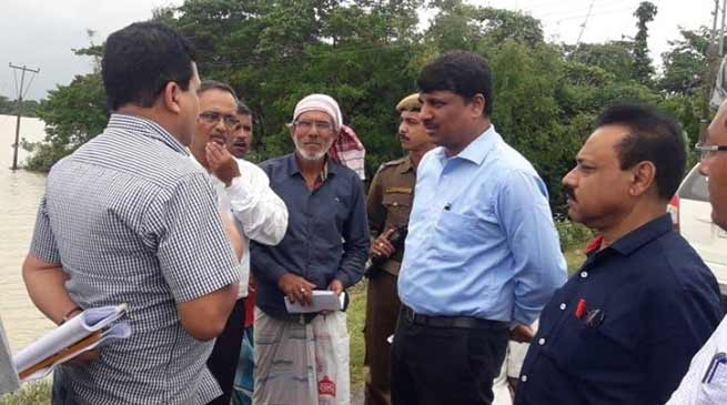 Assam: Director Agriculture takes stock of cropland affected in flood-hit Hailakandi
