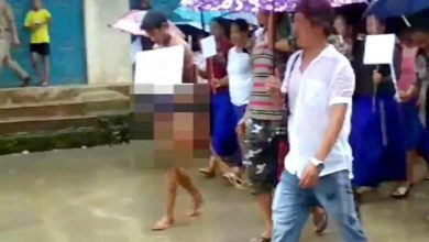 Photo of Nagaland: Rapist stripped naked, paraded by public In Longleng