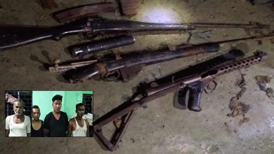 Photo of Assam: Police arrested 4 Rhino poachers, recovered arms