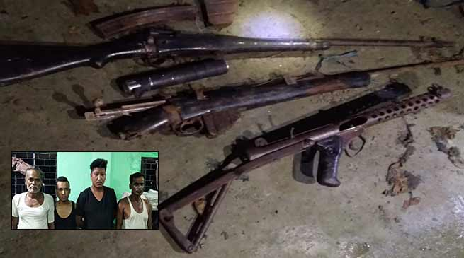 Assam: Police arrested 4 Rhino poachers, recovered arms