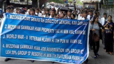 Photo of Mizoram: MESL protest against DG post in Home Guards