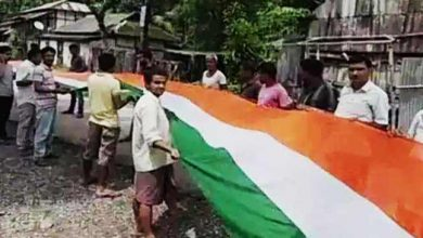 Photo of 72nd I-Day : Giant National Flags Unfurled in Assam, Gujrat