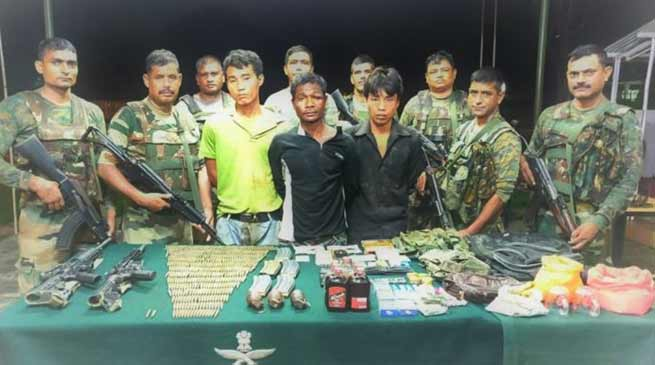 Manipur:3 NSCN ( K ) Cadres Held With Arms, Ammunition