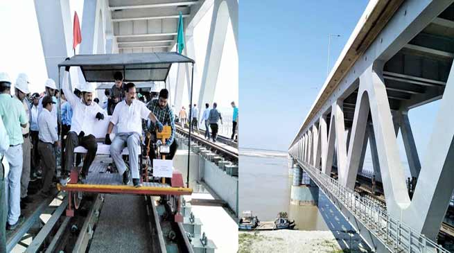 Assam: CRS Railway Safety inspects Bigibeel Bridge