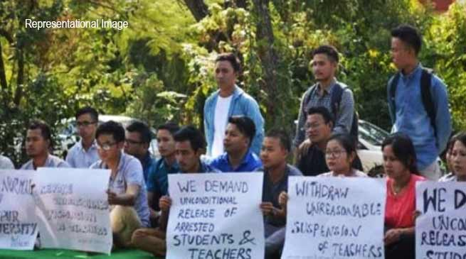 Manipur University students protest against acting VC's remarks