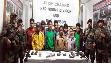 Photo of Army, Police apprehended 9 NDFB(S) cadres from Arunachal