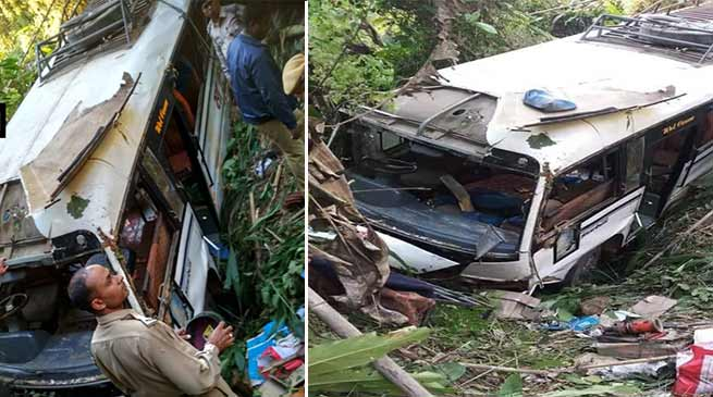 Tripura : Bus falls into gorge, 30 injured, 22 are in critical condition