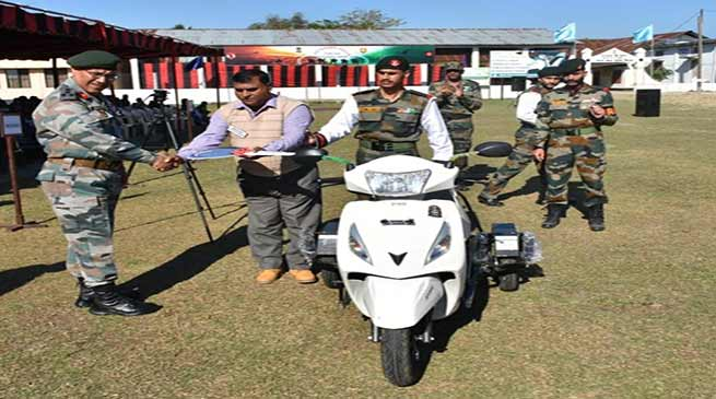 Assam: Army provide special scooter to disabled soldiers