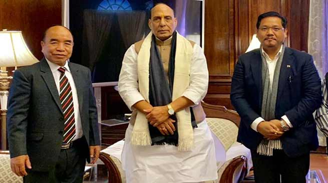Citizenship( Amendment) Bill:  Cms of Mizoram and Meghalaya meet Rajnath Singh