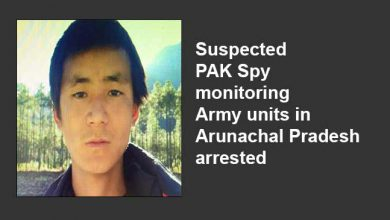 Photo of Suspected PAK Spy monitoring Army units in Arunachal Pradesh arrested