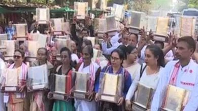 Photo of Assam: Martyr's families return mementos in protest against CAB