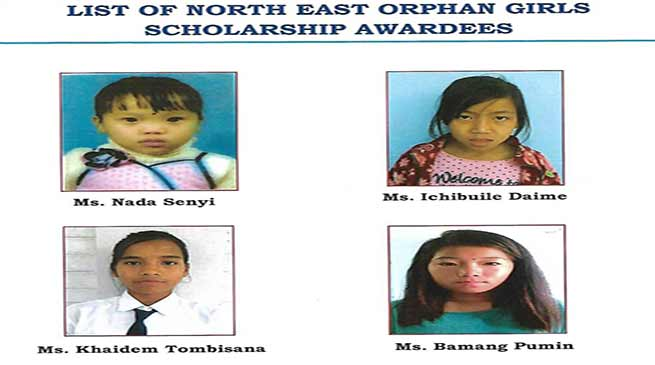 Helping Hands NGO has adopted four north east  orphans girls