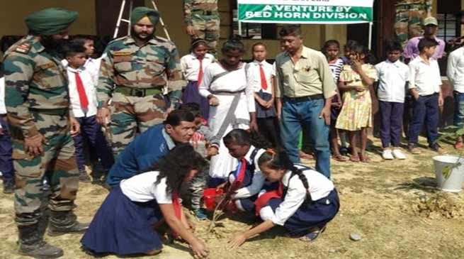 Assam: Army Red Horn Division organised plantation drive