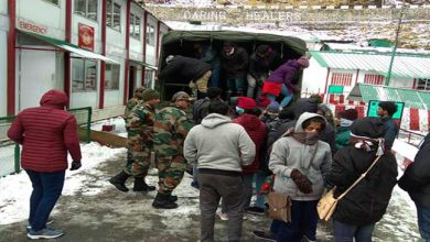 Photo of Sikkim: Army evacuates 300 stranded tourist from Changgu
