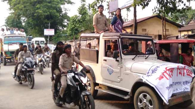Assam: Rally for peace, communal harmony brought out in Hailakandi