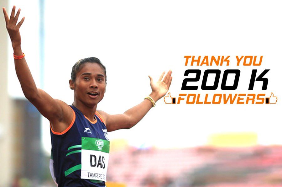 Assam:  Hima Das crosses 200K followers on Twitter