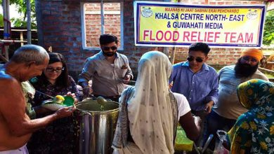 Photo of Assam: Guwahati Media distributes Flood Relief in Association with Khalsa Centre
