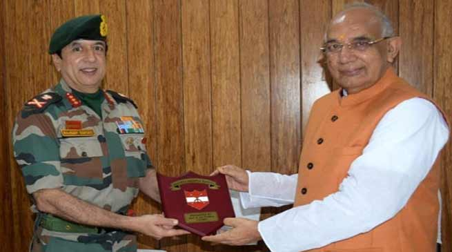Tripura: GOC Spear Corps calls on Governor