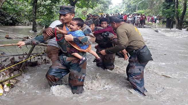 Assam Flood: Messiah in Uniform save hundreds of Lives