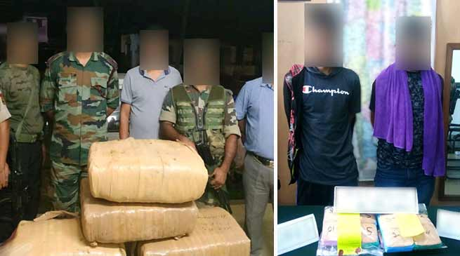Manipur: Assam Rifles seized  huge quantities of drugs and contraband items