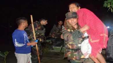 Photo of Assam:Army conducts Rescue Operation during night, save 160 marooned persons in Nalbari