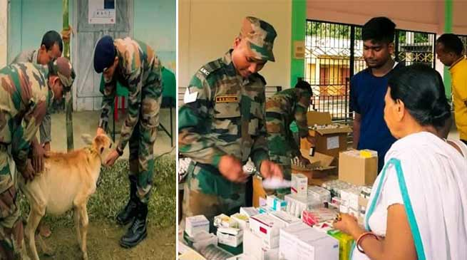 Assam:  Indian Army plays the role of Messiah during flood