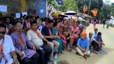 Photo of Mizoram: BJP protest against Chakma Council's new land law