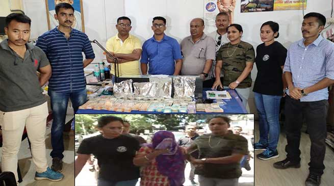 Assam: 1.14kg heroin and Rs. 19.55 lacs cash seized in Dibrugarh
