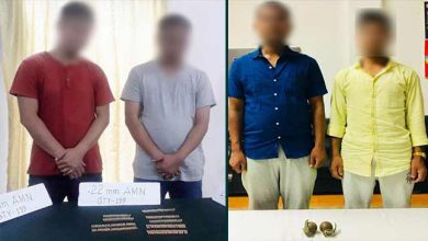 Photo of 2 ULFA (I) cadres apprehended in Assam, Ammunition recovered in Mizoram