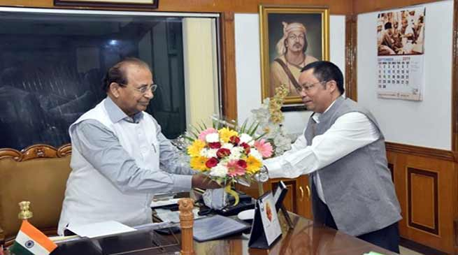 Mizoram: BJP's legislator Dr. B D Chakma calls on Governor