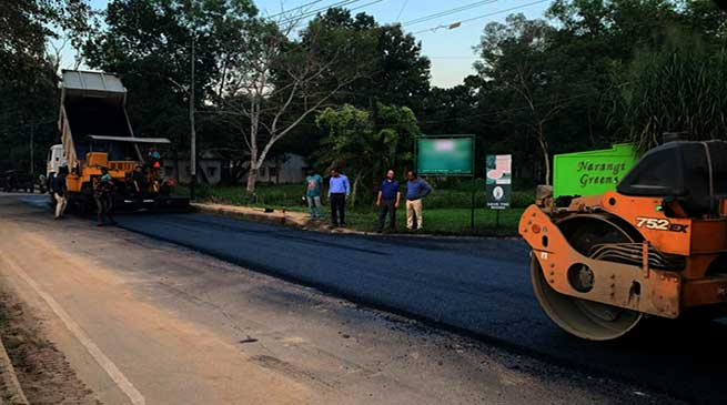 Assam: Plastic waste used for road construction by Indian Army