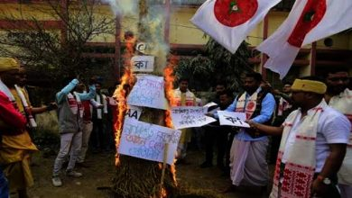 Photo of Assam: CAA Copies burnt in Bihu's Bonfire