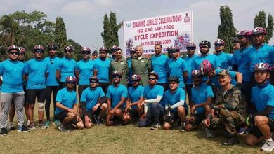 Photo of Assam: IAF cycling expedition flag in by AOC-in-C at Guwahati