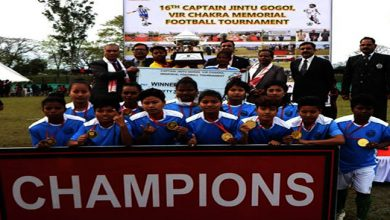 Photo of Assam: 16th Capt Jintu Gogoi, vir chakra memorial football tournament in Dibrugarh concludes