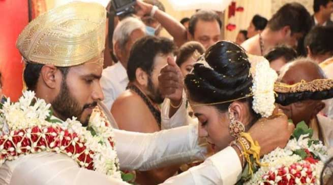 Nikhil Kumaraswamy wedding amid lockdown restriction over Covid-19